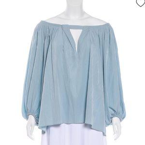 Diane Von Furstenberg Adams pleated blouse